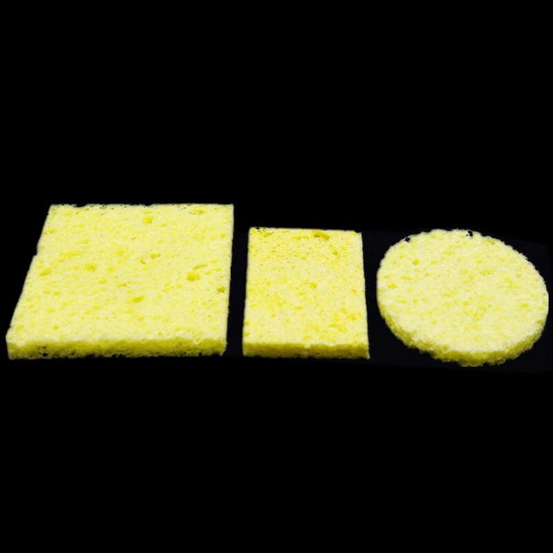 10 pcs Solda PCB Limpeza Almofadas Esponjas UseTo Universal Solda Reposição de Ferro De Solda de Solda Ponta do Ferro Dica Ferramentas Limpas