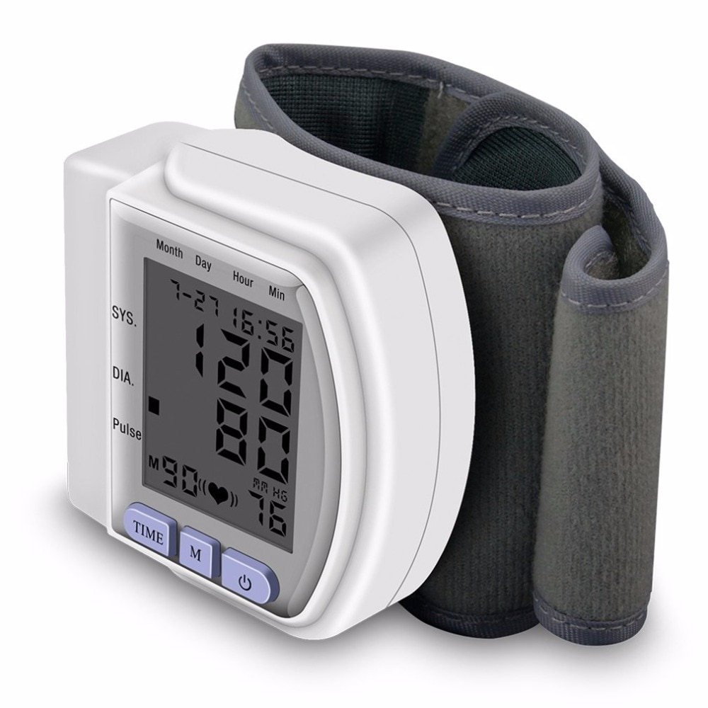 Pro Digital muñeca bp monitores de presión arterial metros tonómetro esfigmomanómetro brazalete de monitores para el cuidado de la salud 100% el más bueno