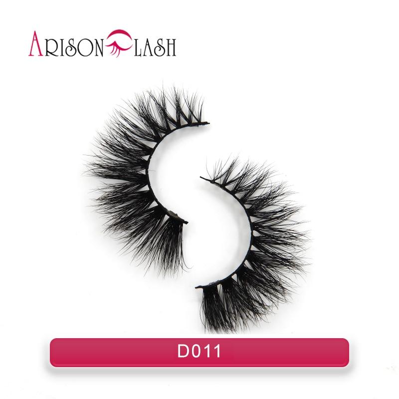 Eyelashes 3D Mink Lashes natural handmade volume soft lashes long eyelash extension real mink eyelash for makeup Arison Lashes