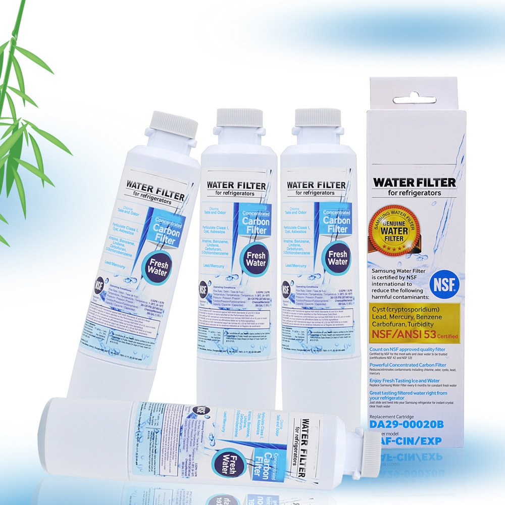 New Household Water Purifiers Refrigerator Water Filter Cartridge Activated Carbon Replacement For Samsung Da29-00020b 4 Pcs/lot replacement internal active carbon filter for the water ionizer only