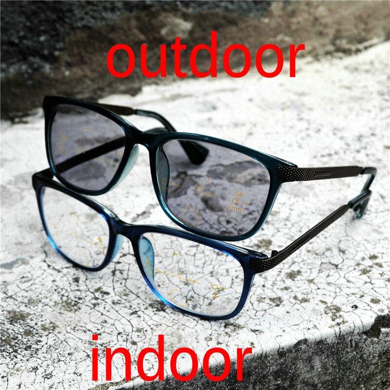 Прогрессивные многофокальные очки, солнцезащитные очки, фотохромные очки для чтения, мужские очки для чтения