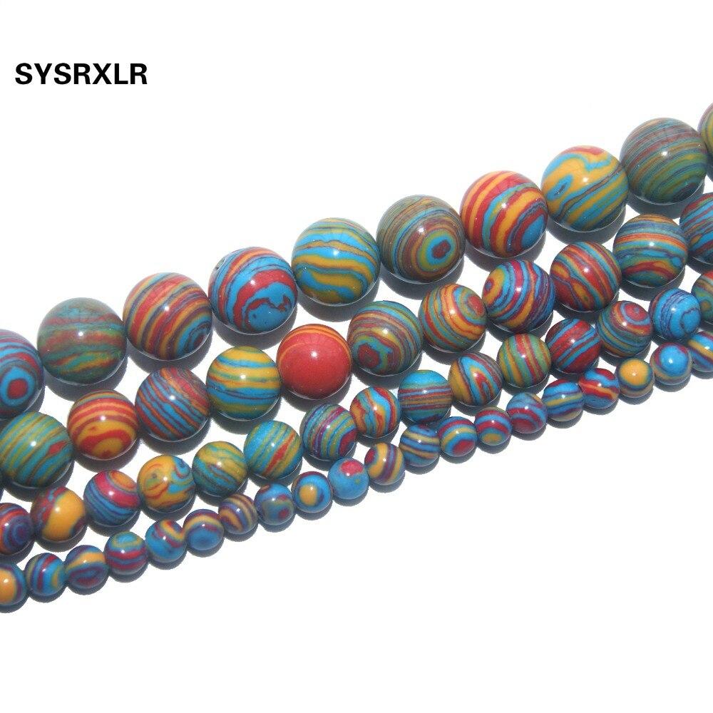 Hurtownie kolor malachit naturalny koraliki do tworzenia biżuterii 6/8/10/12 MM Strand 15.5 i # # Trade i 39;