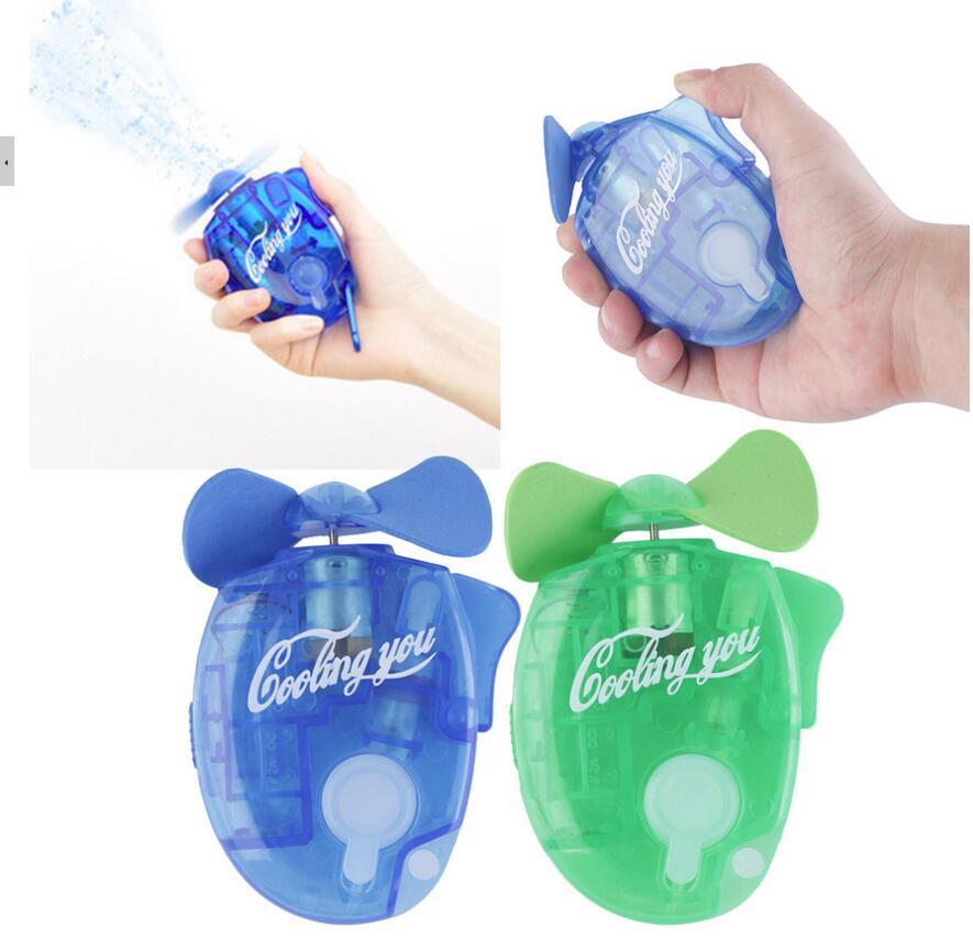 1 Uds Mini ventilador portátil de mano con pulverizador de refrigeración por agua Gadget Sport Mist Spray