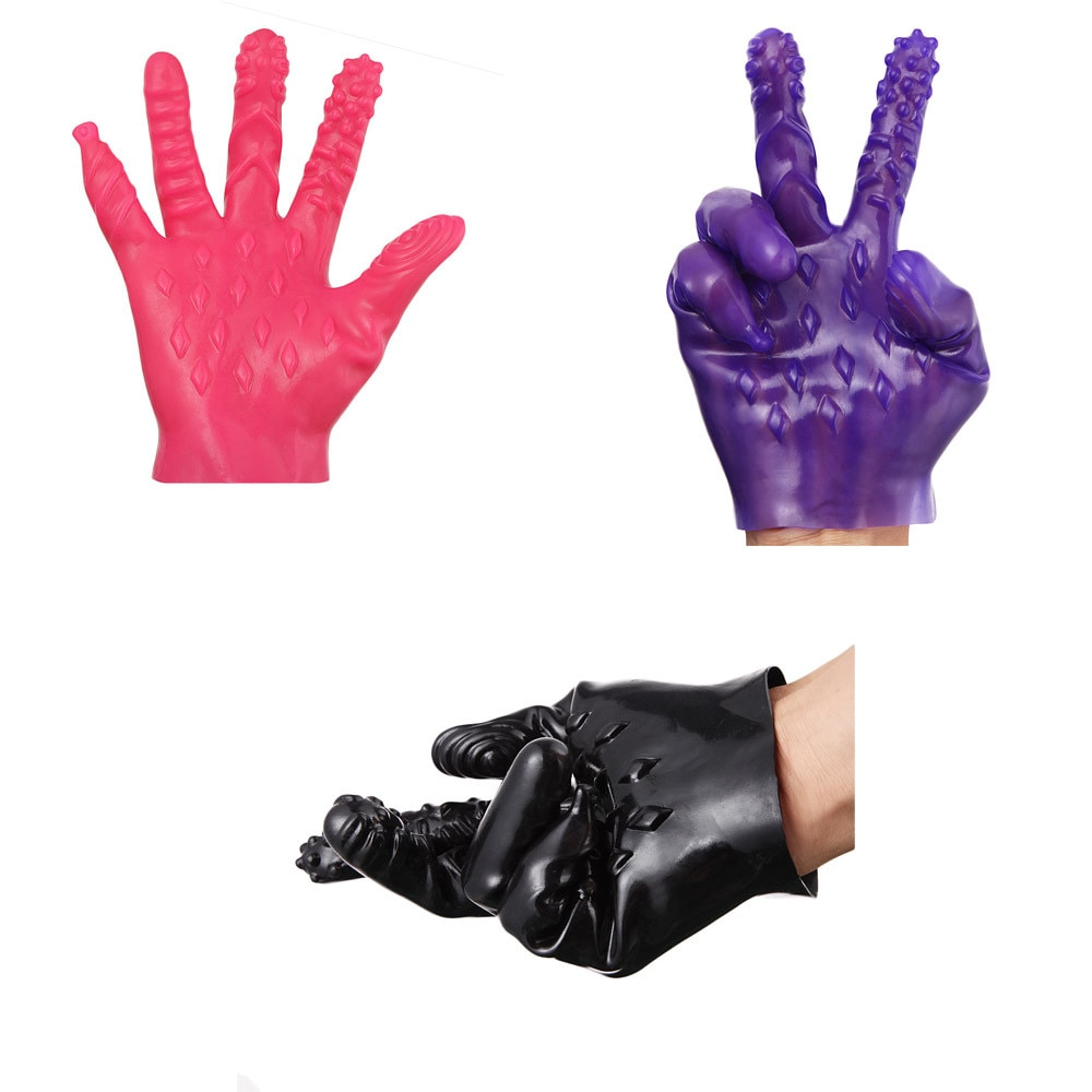 Juguetes de sexo Anal para mujeres y hombres Anal g-spot masaje Sticks juguetes sexuales guantes X6.5