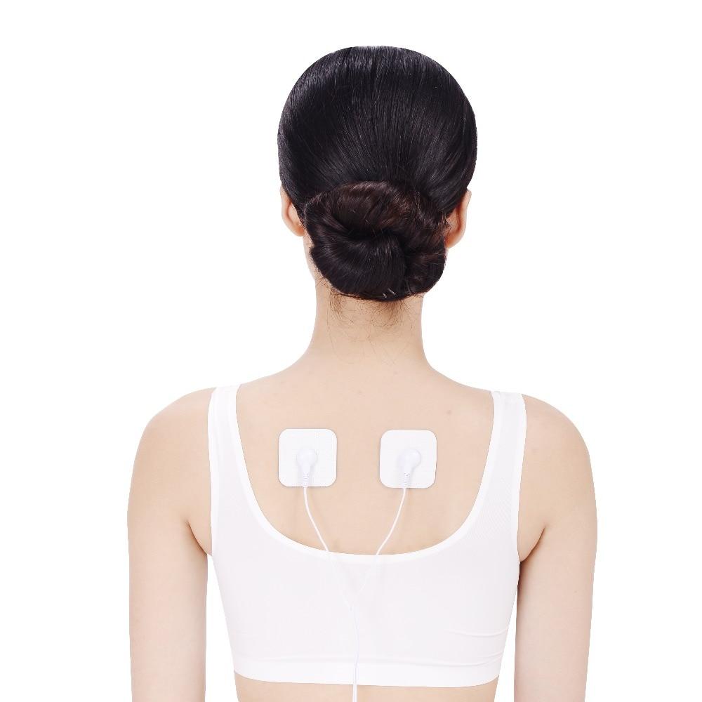 TENS Unit Electrodes Pads FDA 510K(10 Piece 5*5CM)Premium Quality Large Replacement Pads Snap TENS Unit Electrodes