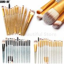 MAANGE 15Pcs/Set Multifunctional Makeup Brush Concealer Eyeshadow Foundation Powder Brush Set Cosmetic Beauty Tool Kit Maquiagem