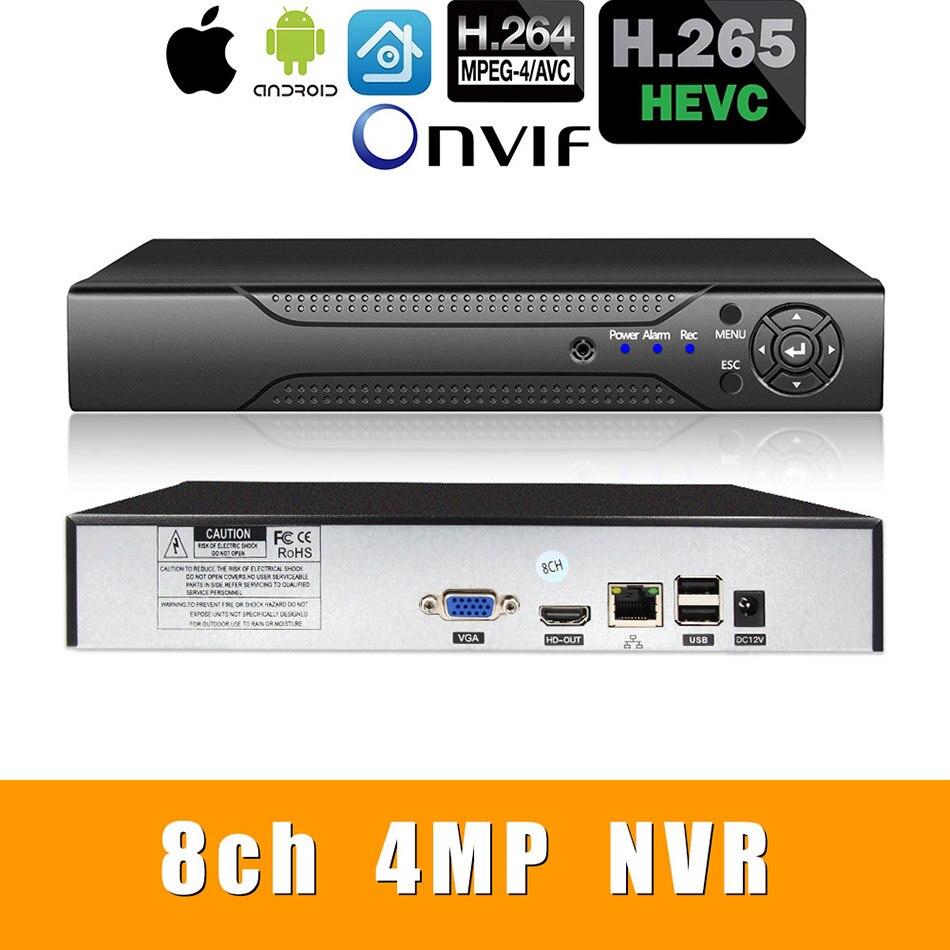 H.265 +/H.264 8ch * 4.0MP/4ch * 5.0MP/8ch * 1080P сетевой видеорегистратор 1080 P/720 P ip-камера с SATA линией ONVIF CMS XMEYE