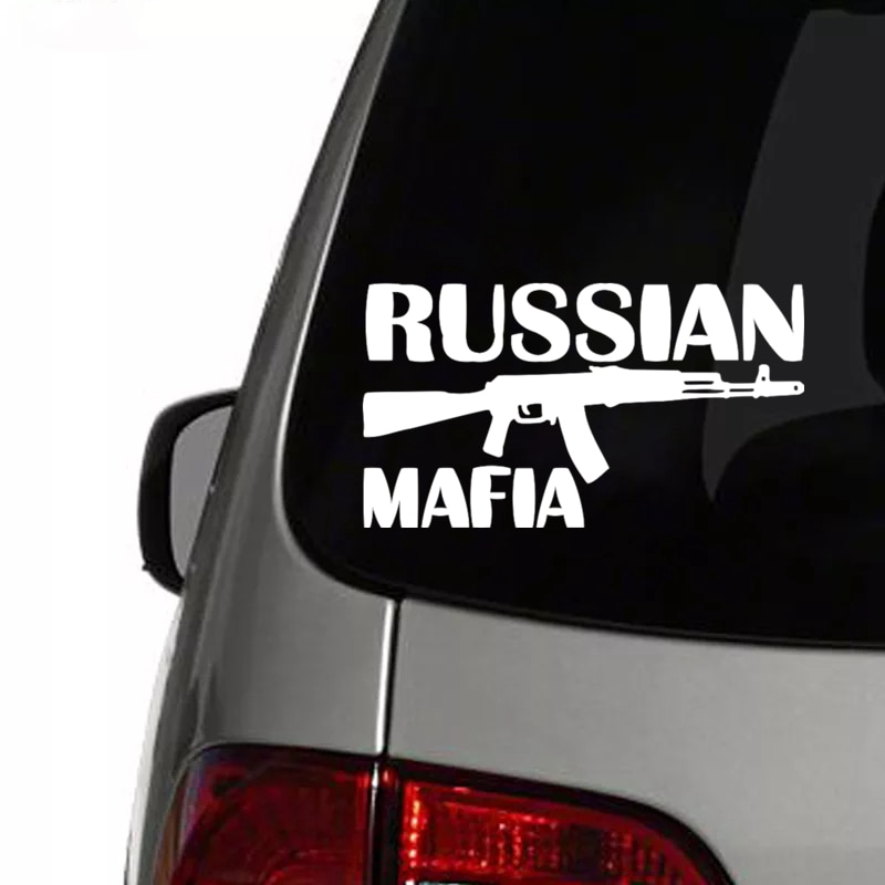 CS-052#12*22cm RUSSIAN MAFIA водонепроницаемые наклейки на авто наклейки на машину наклейка для авто автонаклейка стикер
