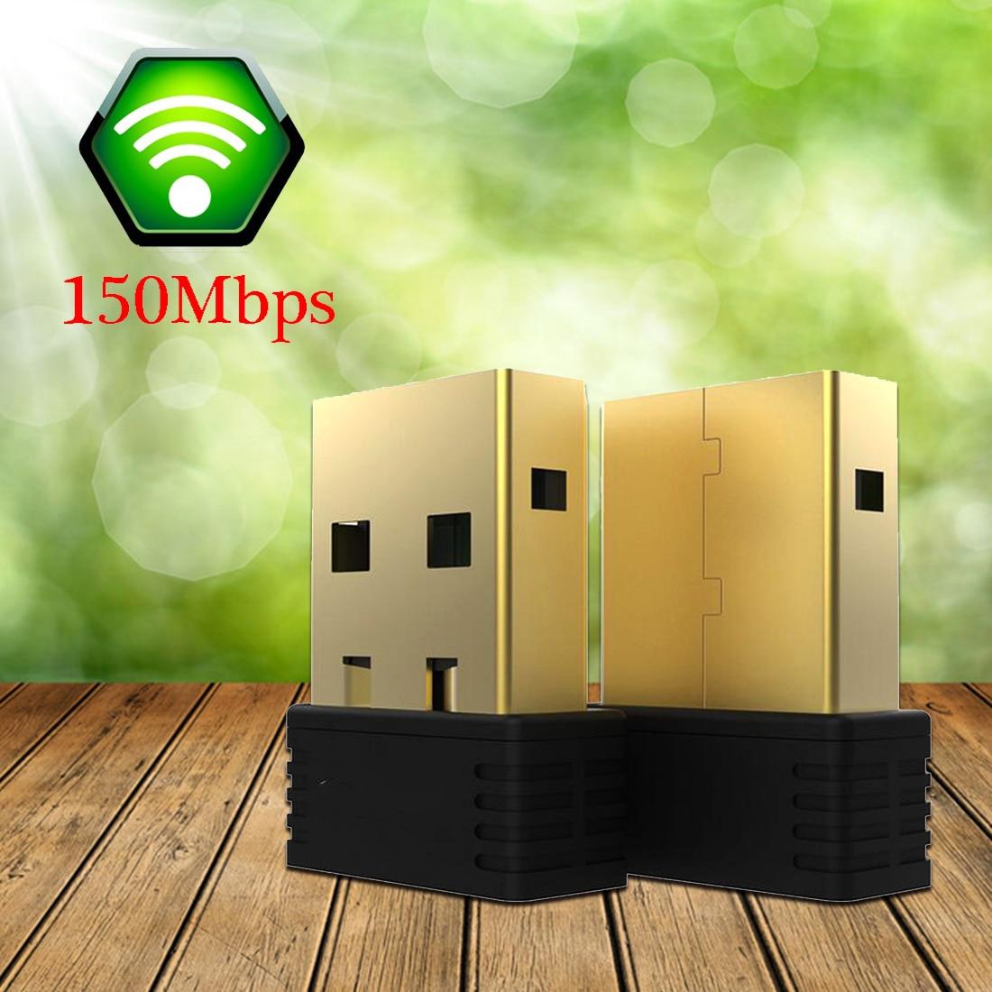 NOYOKERE-Nano Adaptador de Adaptador WiFi USB inalámbrico de 150Mbps, Dongle WiFi, tarjeta de red 802.11n/g/b LAN