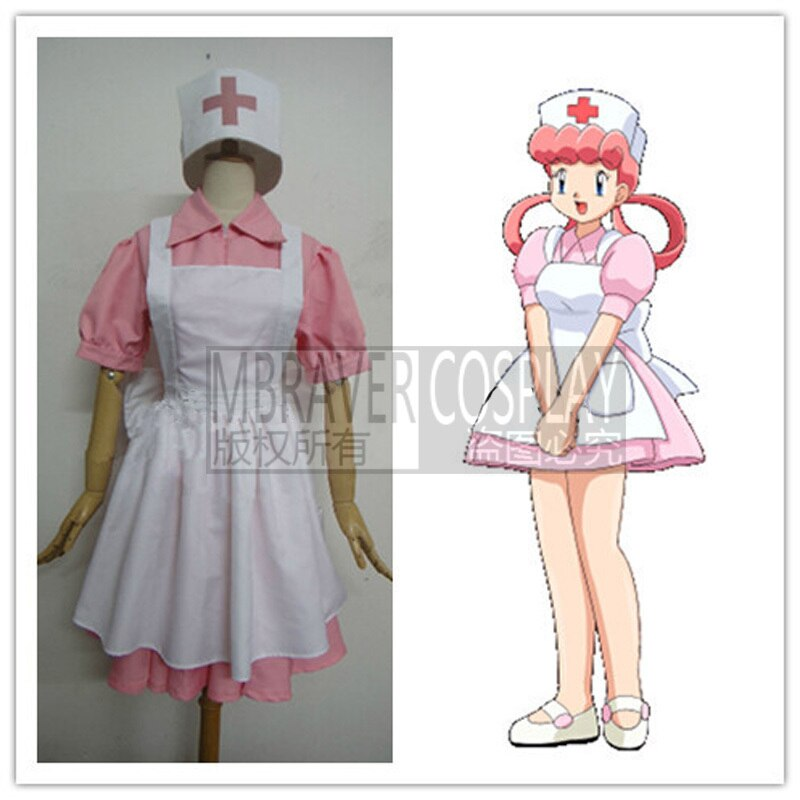 Hot Pocket Monsters Nurse Joy Cosplay Costume