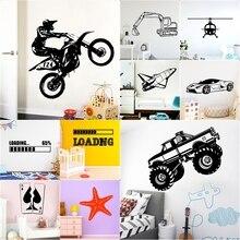 تصميم جديد سيارة لعبة طائرة للإزالة Vinyls ملصقات الجداريات للأطفال غرفة ديكور المنزل غرفة نوم خلفية ديكور الملصقات