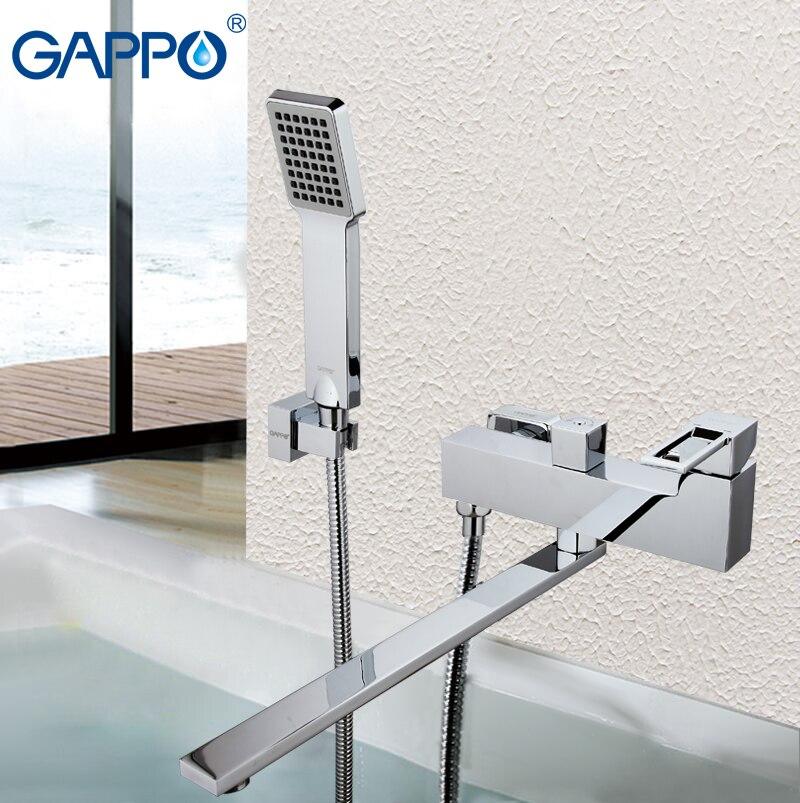 Grifo de baño GAPPO, grifo de baño cromado, grifo de ducha, grifo mezclador de latón, grifo de Ducha