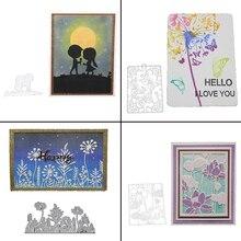AZSG dzieci/kwiaty/roślin/szablon w kształcie serca do wycinania dla DIY Scrapbooking umiera dekoracyjne tłoczenie DIY Decoative karty wycinarka
