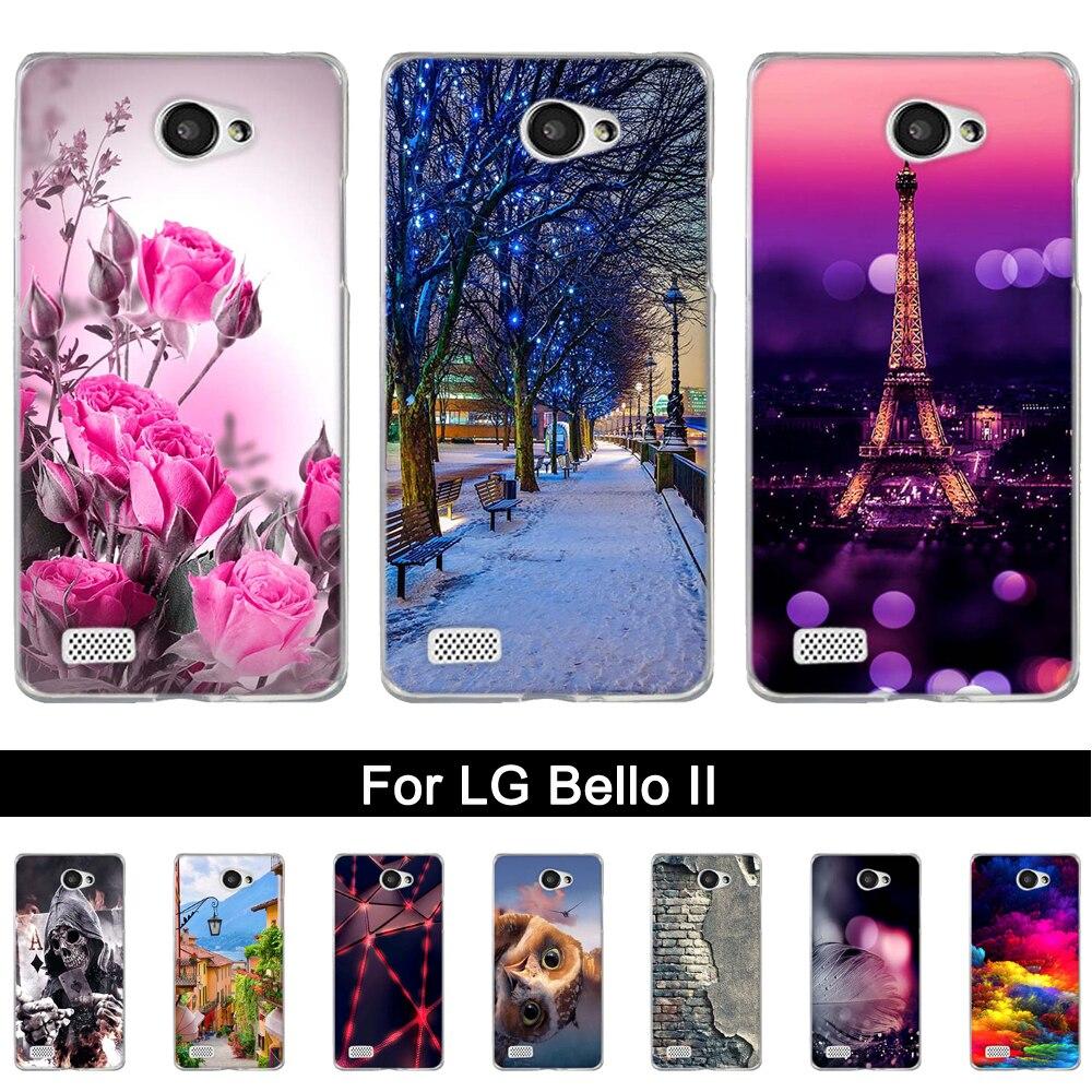 Funda de teléfono para LG Bello II 2 / Prime II / LG máx. X155 suave TPU silicona animales paisaje carcasas para teléfono bolsas para LG Prime II
