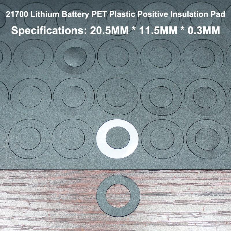 Купить с кэшбэком 100pcs/lot 21700 Lithium Battery Positive Insulation Gasket Hollow Flat Head Pad Insulation Meson Diameter 20.5*11.5MM