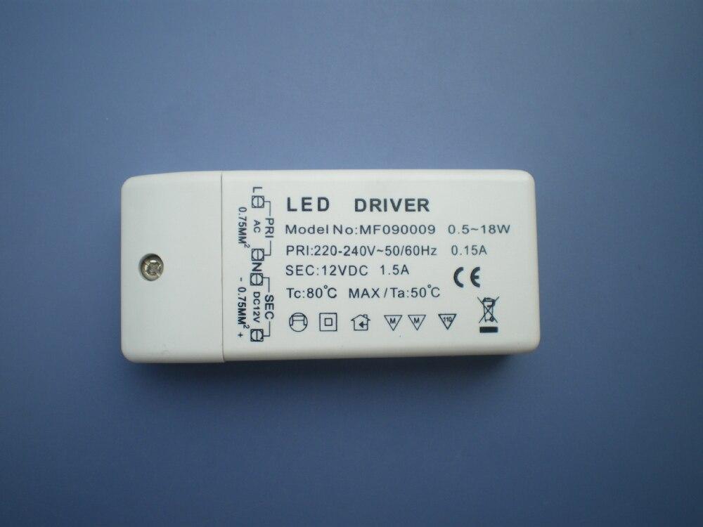 100PCS/Lot Wholesales LED TRANSFORMER DRIVER Converter 18w 12v DC led lamp bulb light