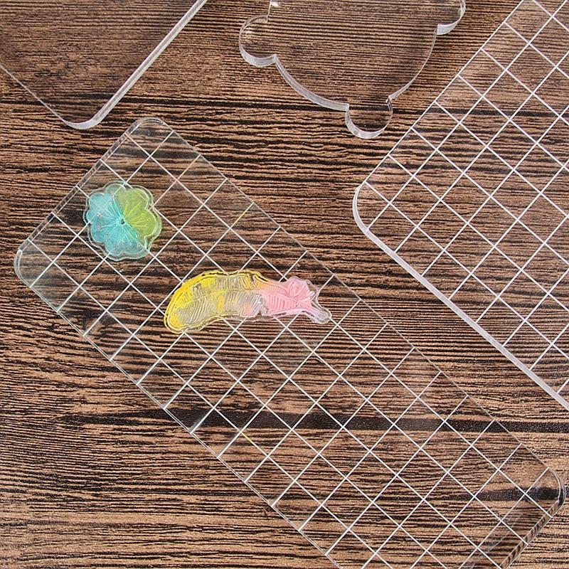 1pc DIY Transparent Stamp Acrylic Block Pad scrapbooking Color Process Essential Handmade Tools Acrylic Pate Kids Toys