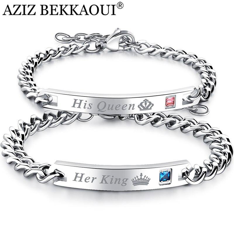 Прямая поставка, браслеты из нержавеющей стали для женщин и мужчин, очаровательный браслет с короной