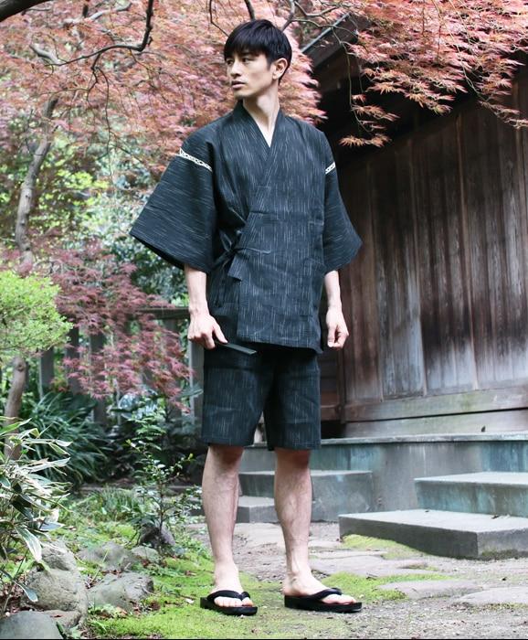 Summer 95% cotton Japan style Kimono pajamas sets for men Male short sleeve sleep lounge sleepwear M