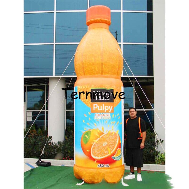 Botella de jugo inflable, exhibición de publicidad, botella de vino tinto inflable, modelo de globo con bomba de aire