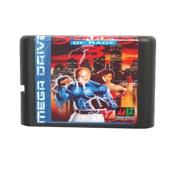 Sega tarjeta de juego MD-calles de Rage 3 III para 16 bit Sega MD Sistema de cartucho de juego Megadrive Genesis