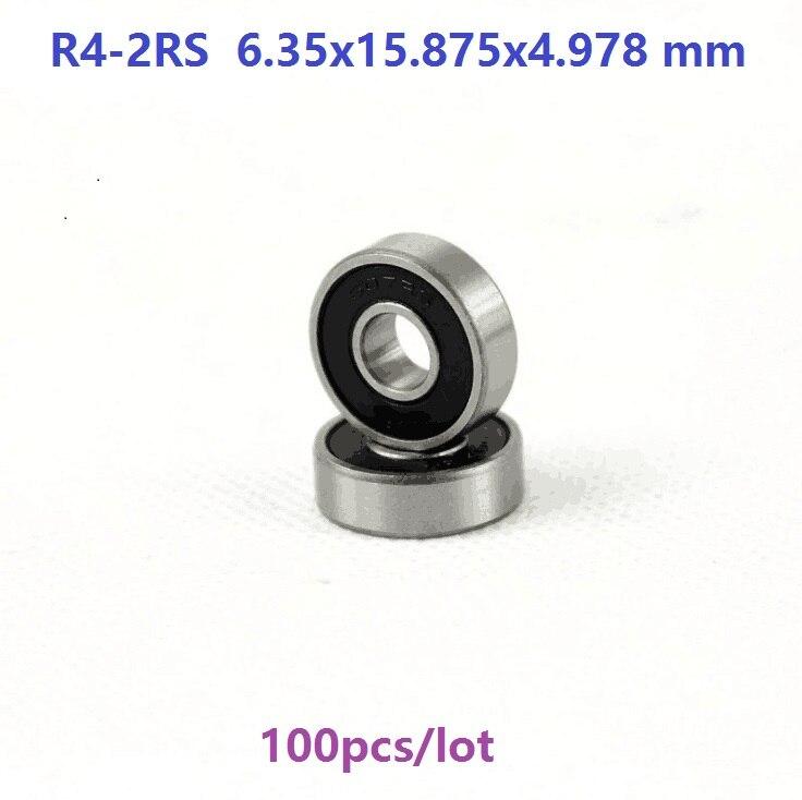 100 قطعة/الوحدة R4-2RS R4RS R4 2RS RS 1/4