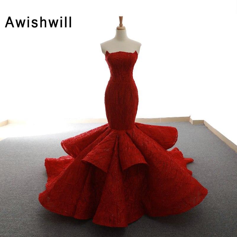 فستان سهرة نسائي طويل بتصميم حورية البحر من دبي, فستان سهرة رسمي أنيق من الدانتيل بتصميم حورية البحر من موضة 2020