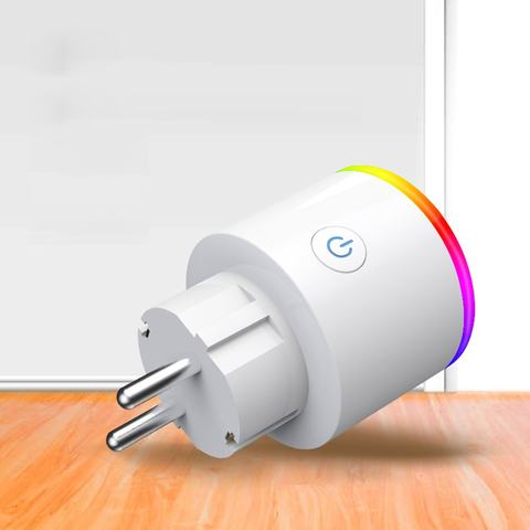 Telefone inteligente plugue Wi-fi Tomada com interruptor de Voz automatisierung Controle Remoto Interruptor Tun Temporizador