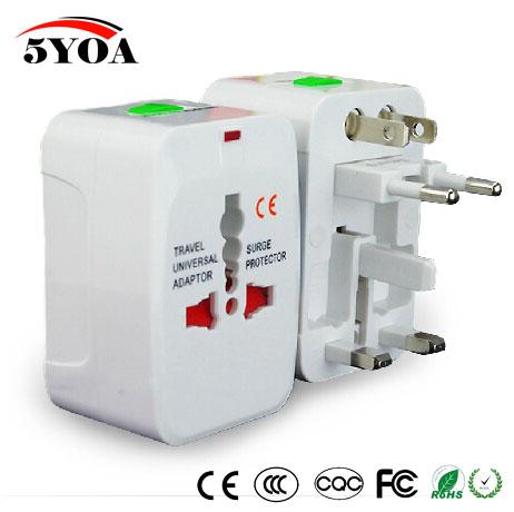 Универсальный адаптер для зарядного устройства со штепсельной вилкой, Универсальный дорожный адаптер переменного тока, преобразователь для США, Великобритании, Австралии, ЕС, розетка с электрическим разъемом USB