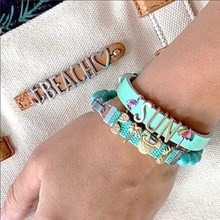 SANSHOOR Hawaii Sun beach Coconut Charms fit Leather/ Stainless Steel Bracelet NOT include the bracelet 1pcs