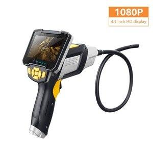 4.3 Inch 1080P HD Handheld Endoscope Camera Screen Detachable CMOS Borescope Rigid Cable Inspection Otoscope  Digital Microscope