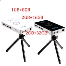 pocket projector 4k dlp mini C6 projector 50 lumen Android 6.0 quad core dual band wifi Bluetooth pico projector