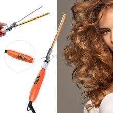 Haute qualité 9mm 360 rotatif électrique Salon de coiffure bigoudi outil en céramique fer à friser baguette magique cheveux modélisation Styler Waver