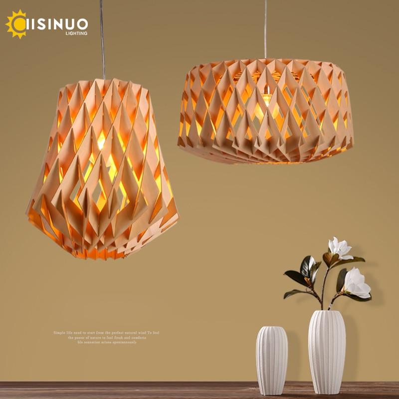 Lampe à suspension en bois nordique, lumière à suspension faite à la main, éclairage suspendu à la main, Bar déclairage de personnalité, décoration de center de Restaurant
