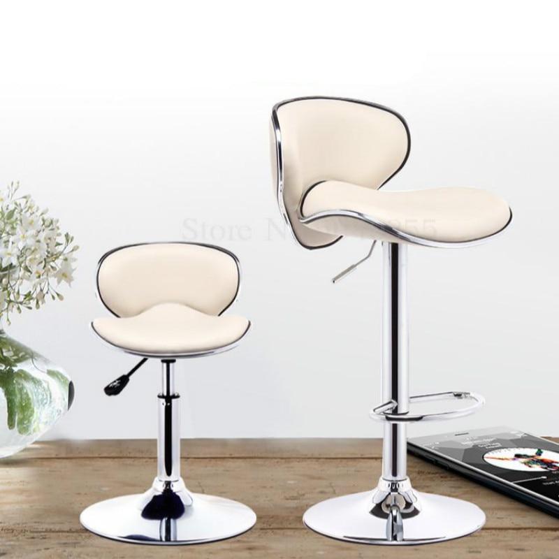 Silla de Bar, taburete de elevación para el hogar, taburete de bar minimalista moderno, taburete de tienda de teléfono móvil, silla de bar, silla de Espalda alta