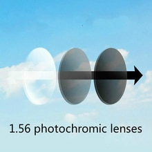 Viodream 1.56 lentilles photochromiques   Lentilles de Prescription claires Anti-rayure, lentille optique pour les yeux, lentilles de lecture pour la myopie
