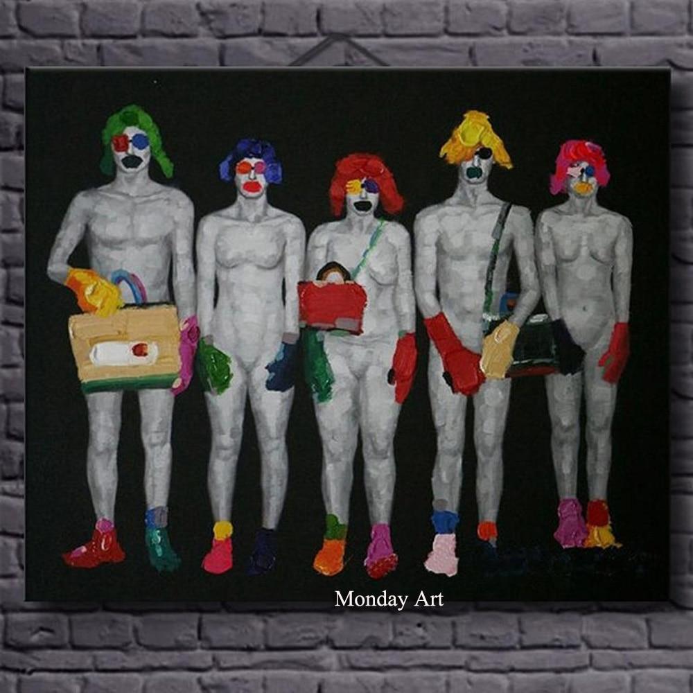 Artista de Fornecer Diretamente de Alta Qualidade de Impressão Retrato da Arte para a Decoração da Parede Homem e Uma Pintura a Óleo Nude Mulher Sexy nu