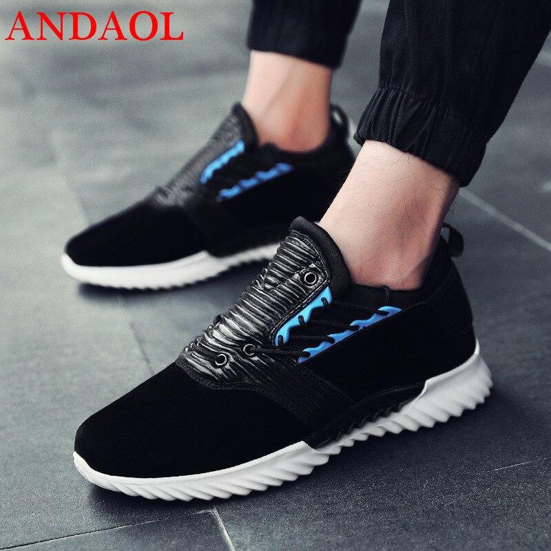 ANDAOL-أحذية مشي خفيفة الوزن ومسامية للرجال ، أحذية رياضية فاخرة ، مقاومة للانزلاق ، جودة عالية ، غير رسمية ، Harajuku