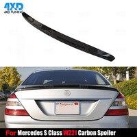 W221 Carbon Fiber Spoiler For Mercedes S Class W221 Rear Trunk Spoiler Wing Sedan 2007 2008 2009 2010 2011 2012 2013