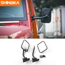 Rétroviseurs extérieurs de porte latérale de voiture de SHINEKA pour langle mort réglable de lentille dangle de Jeep Wrangler JK TJ CJ LJ