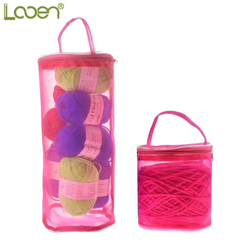 2019 New Yarn Storage Bag Mesh Sewing Kit Bag Organizer Empty Yarn Bag Crochet Thread Storage Holder Bag DIY Hand Weaving Tools