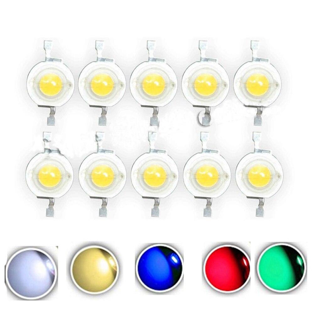 Светодиодные лампы CREE высокой мощности, 10 шт., 1 Вт, 3 Вт, 110-120LM светодиоды для точечного освещения 3 Вт-18 Вт