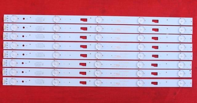 مصباح إضاءة خلفية LED لشيبا 43 بوصة 43L1550C 303TT430035 0D43D05-ZC14F-05 1set = 8 قطعة