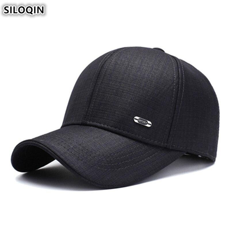 Снэпбэк Кепка SILOQIN для взрослых мужчин Хлопковые бейсболки регулируемый размер модные спортивные кепки для мужчин новинка 2019 мужские шапки...