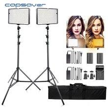 Capsaver TL-240S 2 Sets LED Video Licht Fotografie Beleuchtung 5600K CRI93 240 LEDs led Panel Lampe Lichter für video studio Schießen