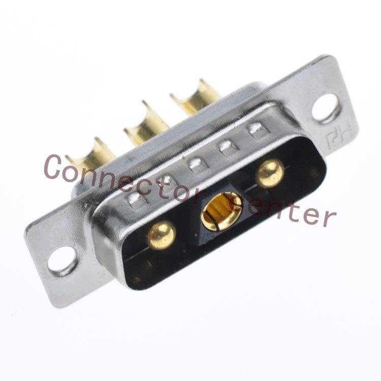 Conector DSUB DB de alta potencia, clavija mecanizada macho 3V3, cable de Flash dorado completo