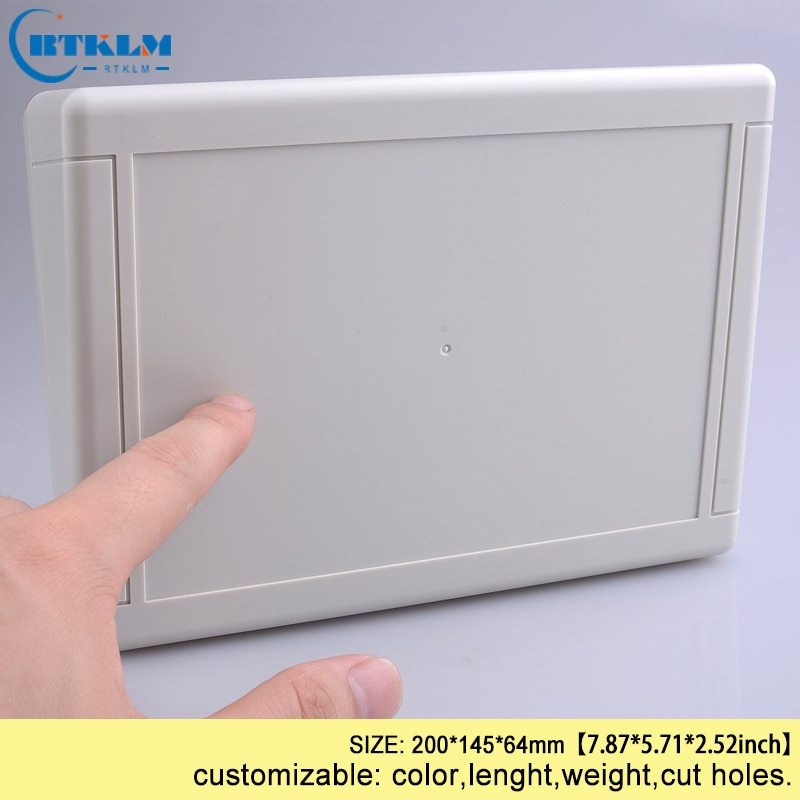 Caja de conexiones de plástico ABS caja electrónica de plástico caja para montaje en pared PCB diseño diy circuito proyecto caso 200*145*64mm