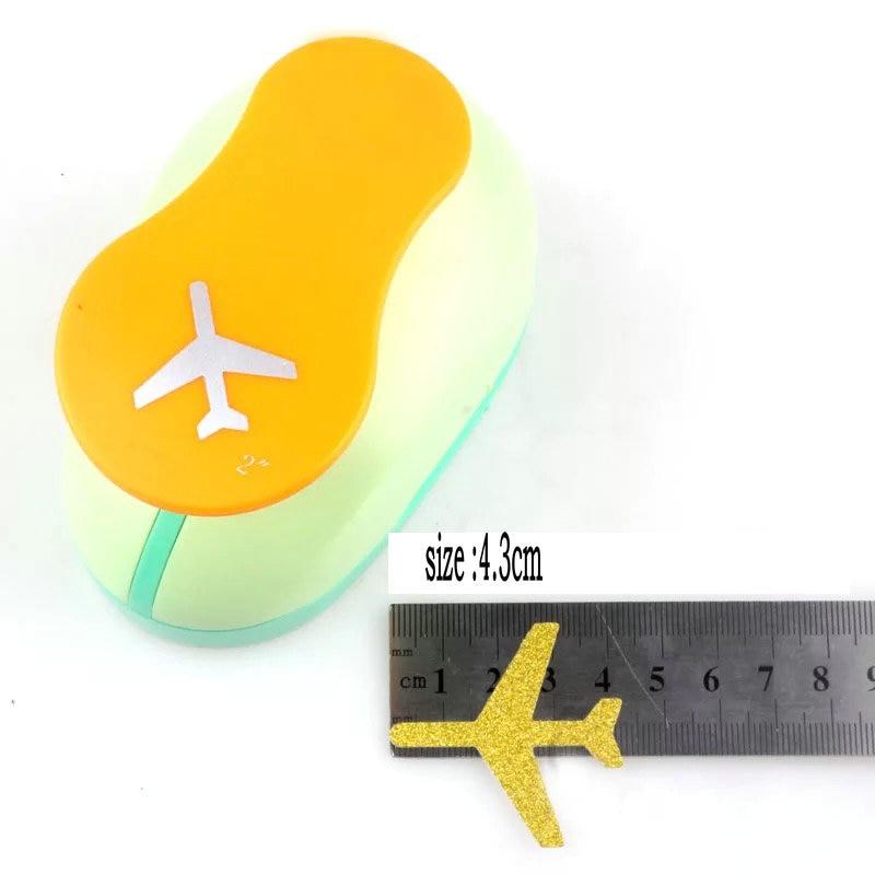 Perforador de papel de 3,3 cm, 4,3 cm, perforador de papel para niños, dispositivo de grabación en relieve, perforador de papel, perforador de avión EVA
