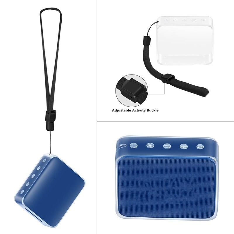 TPU Beschermende Huid Case Cover Met Draagriem voor JBL GAAN 2 Bluetooth Speaker AUG-10A