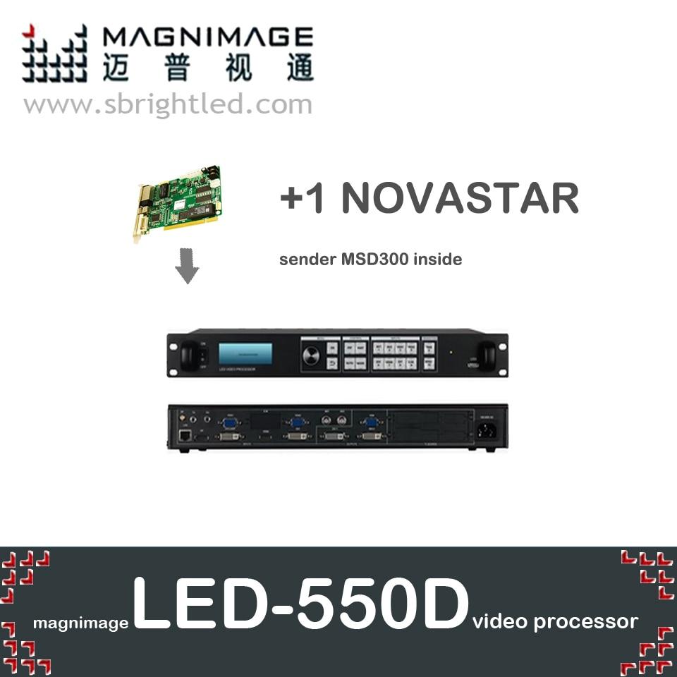 freeship MAGNIMAGE LED-550D +1 NOVASTAR MSD300 in Video Processor scaler for led display screen